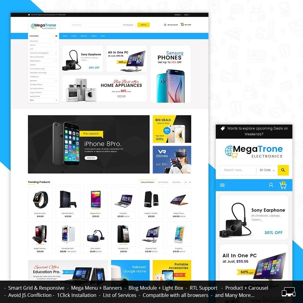 theme - Elettronica & High Tech - Mega Trone Electronics - 1