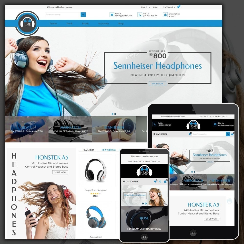 theme - Elettronica & High Tech - Headphone Shop - 1