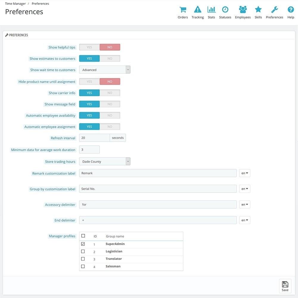 module - Auftragsabwicklung - Time Manager - 14