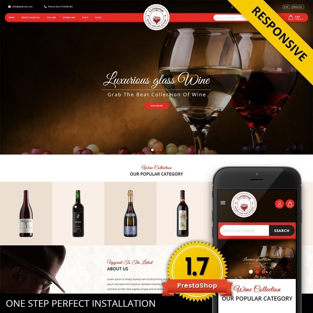 theme - Drink & Tobacco - Luxwine - Wine Store - 1