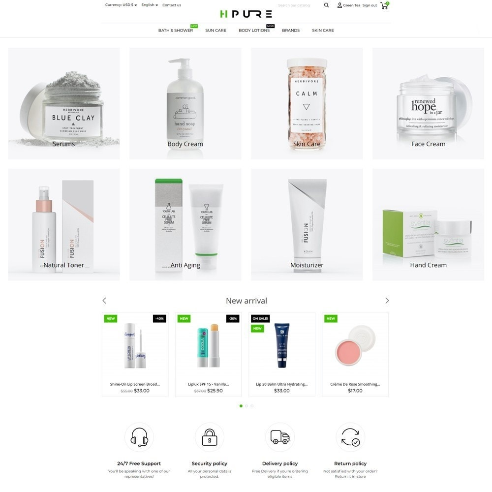 theme - Health & Beauty - HPURE Cosmetics - 2
