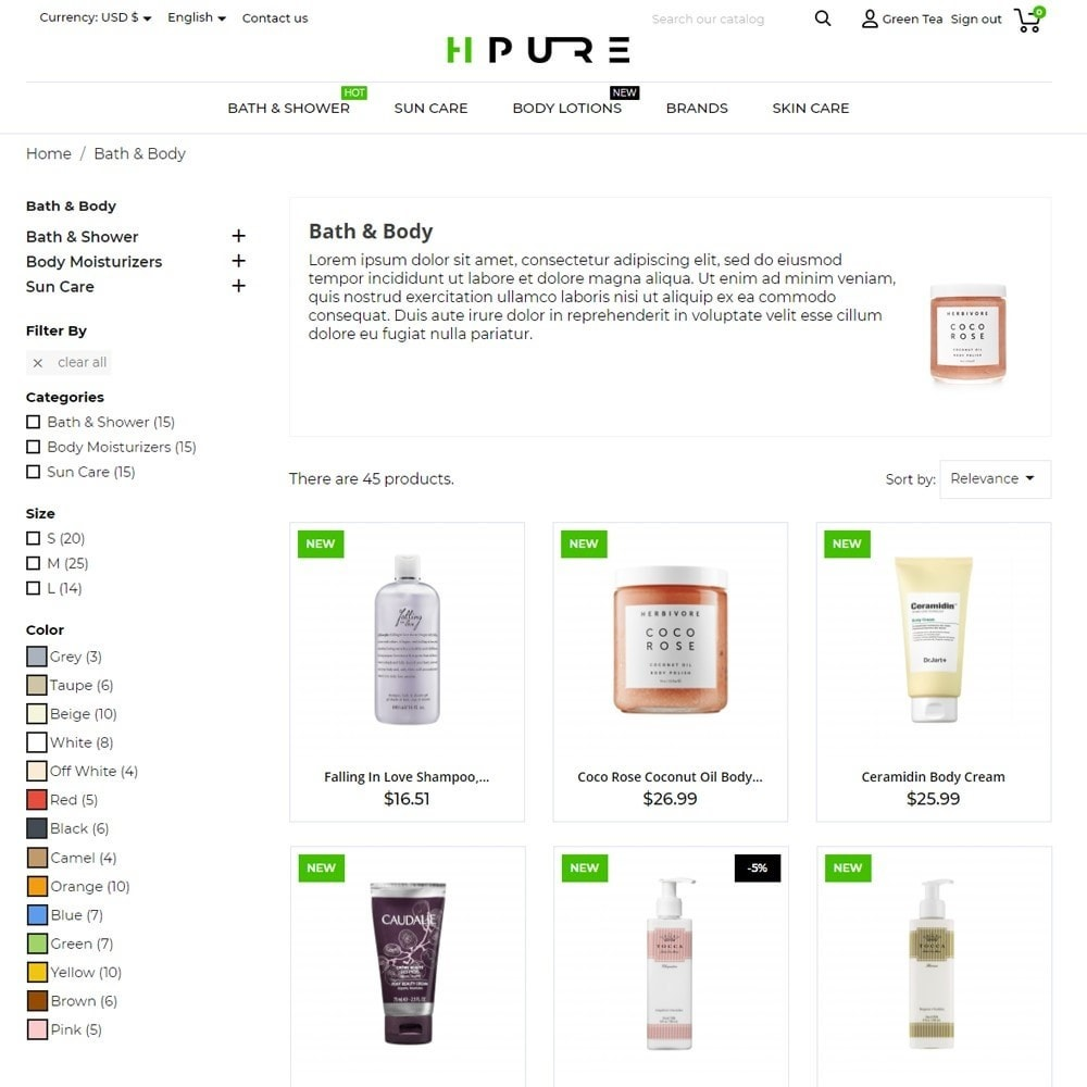 theme - Health & Beauty - HPURE Cosmetics - 6