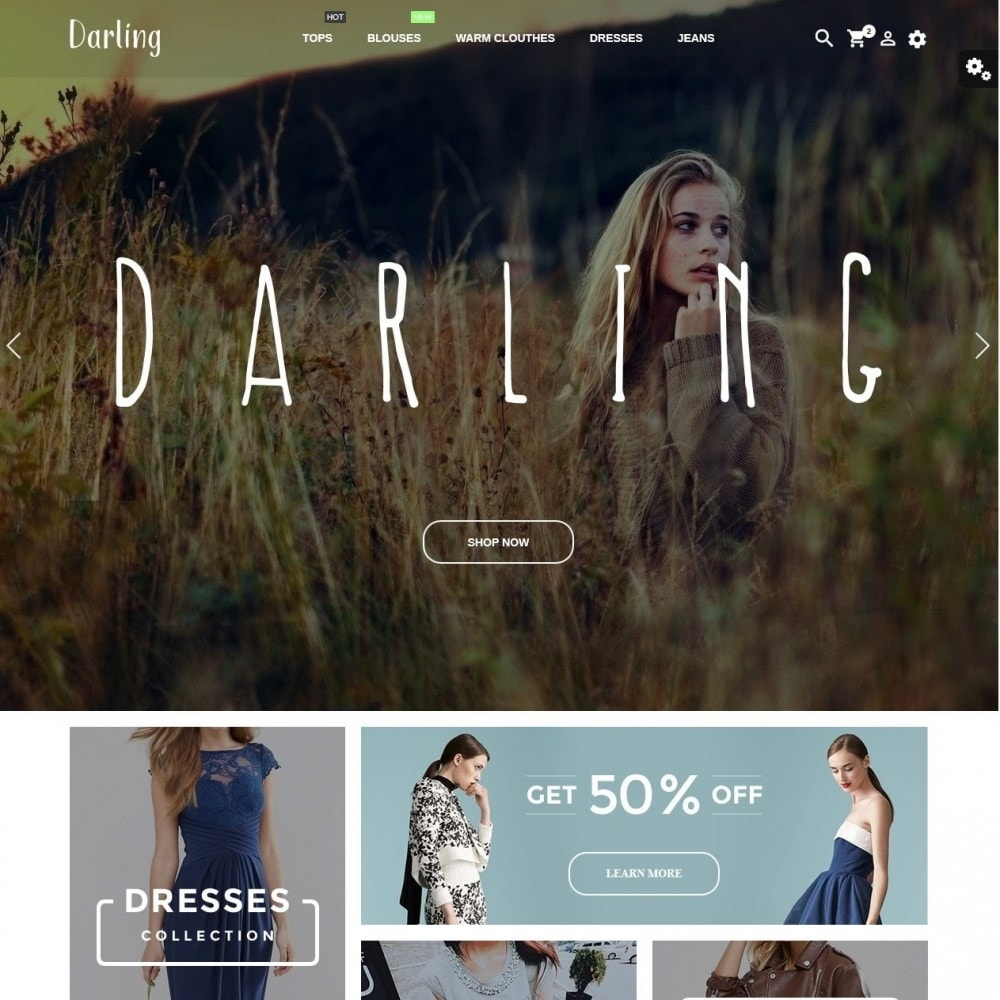 theme - Мода и обувь - Darling Fashion Store - 2