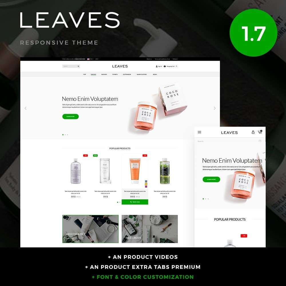 theme - Salute & Bellezza - Leaves Cosmetics - 1