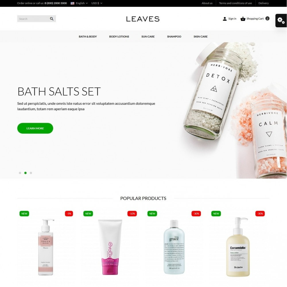 theme - Salud y Belleza - Leaves Cosmetics - 2