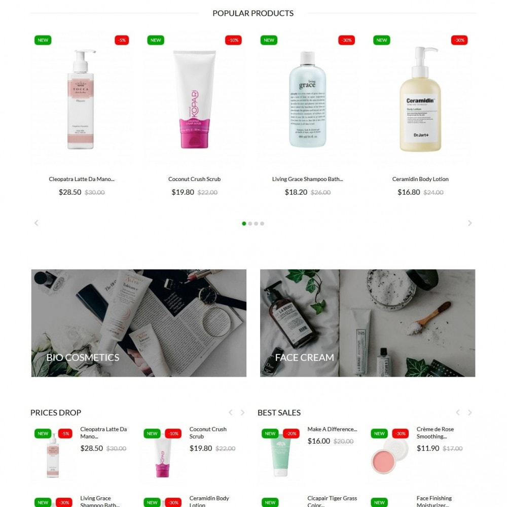 theme - Salute & Bellezza - Leaves Cosmetics - 3