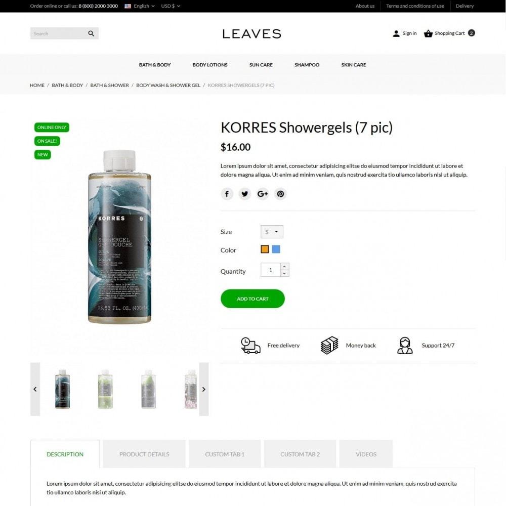 theme - Здоровье и красота - Leaves Cosmetics - 6