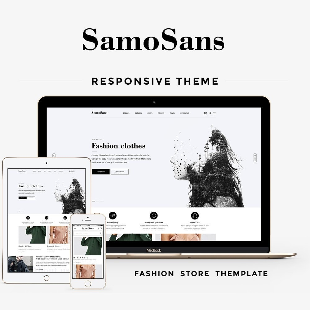 theme - Мода и обувь - Samo Sans Fashion Store - 1