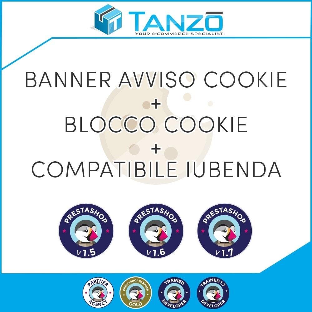 module - Legale (Legge Europea) - Avviso Cookie + Blocco Cookie + Iubenda - 1