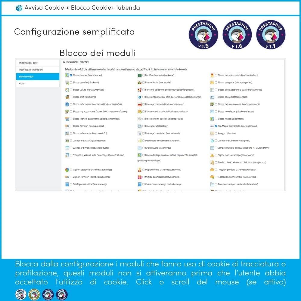 module - Legale (Legge Europea) - Avviso Cookie + Blocco Cookie + Iubenda - 6