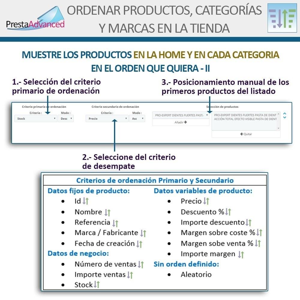 module - Personalización de la página - Ordenar productos, categorías y marcas en la tienda - 5