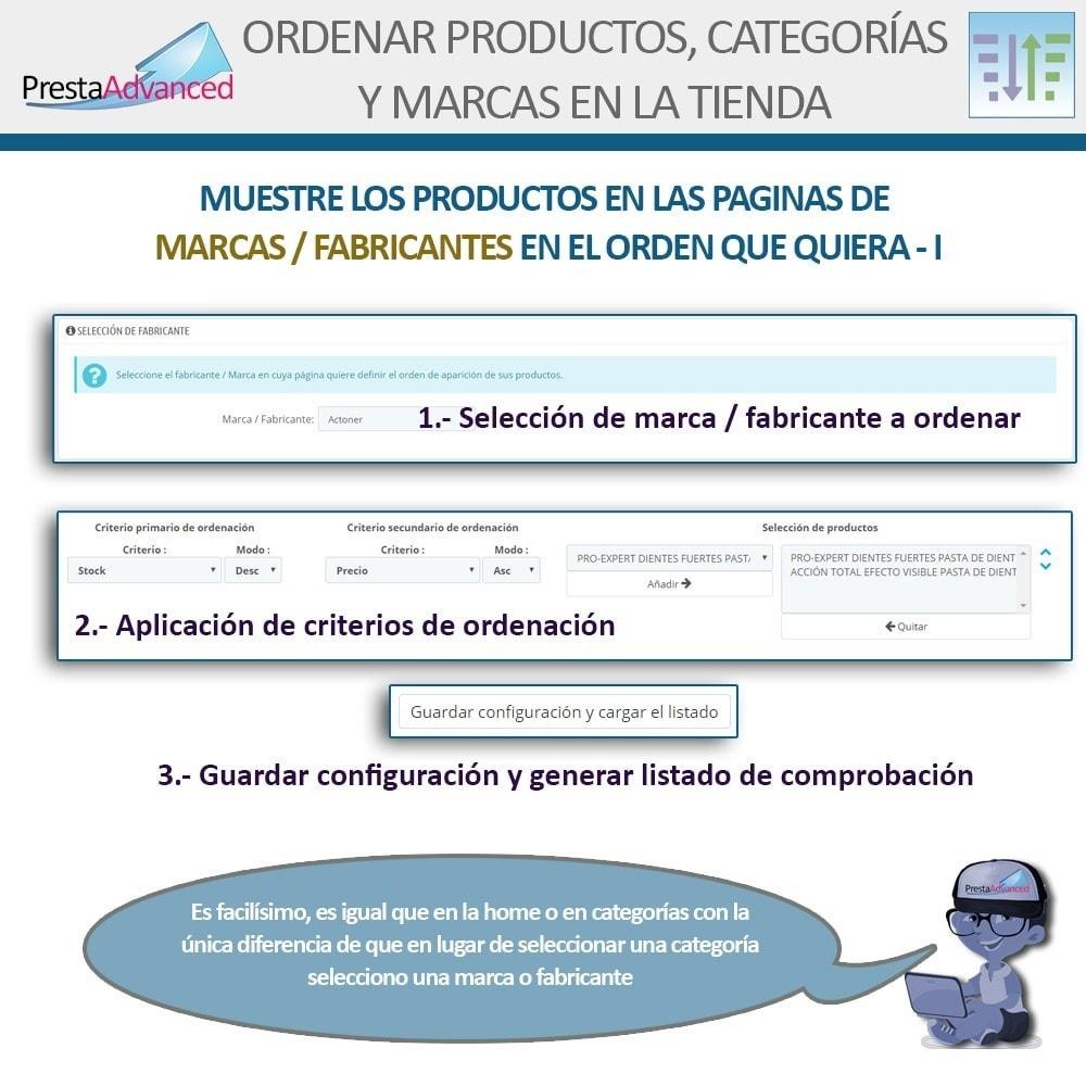 module - Personalización de la página - Ordenar productos, categorías y marcas en la tienda - 10