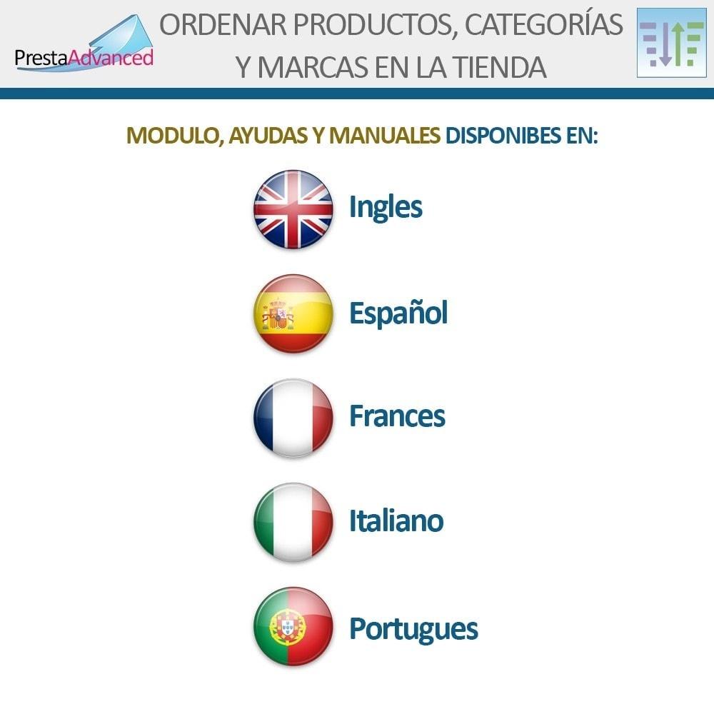 module - Personalización de la página - Ordenar productos, categorías y marcas en la tienda - 17