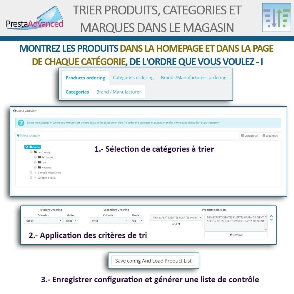 module - Personnalisation de Page - Tri de produits, catégories et marques dans le magasin - 4