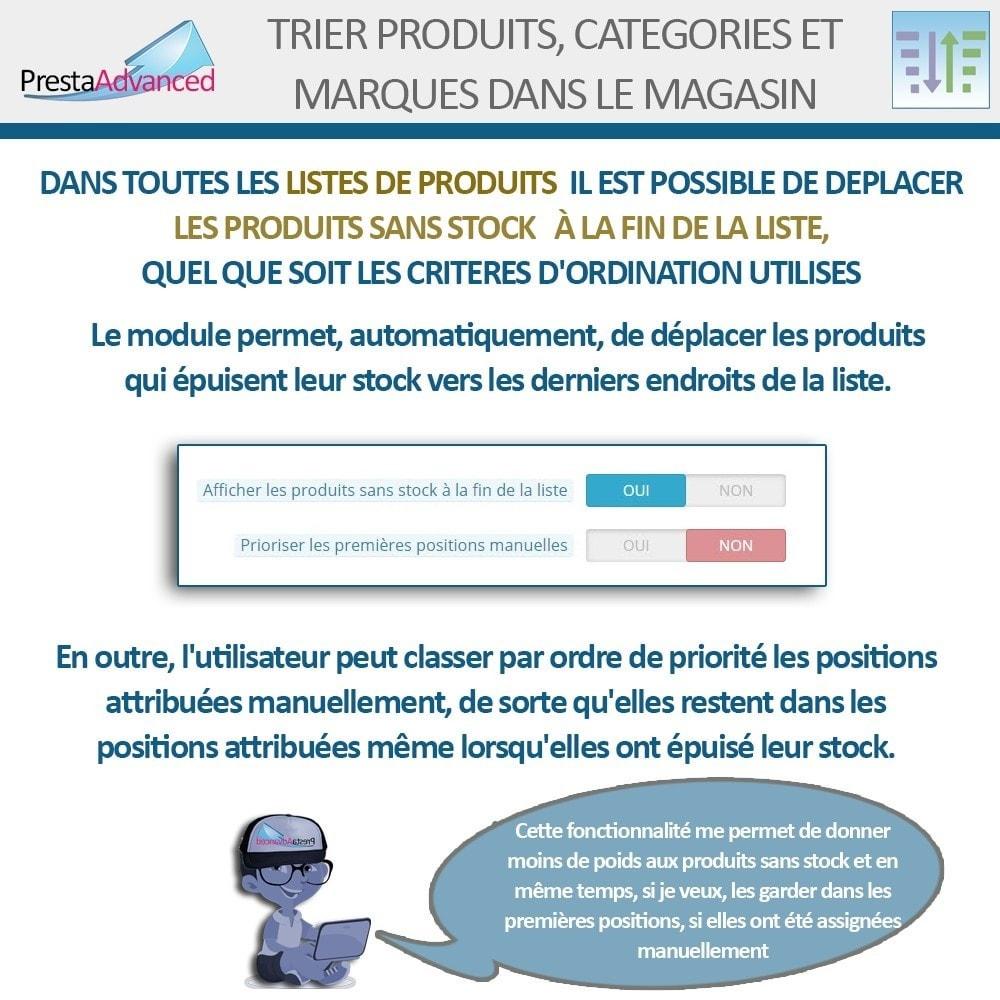 module - Personnalisation de Page - Tri de produits, catégories et marques dans le magasin - 12