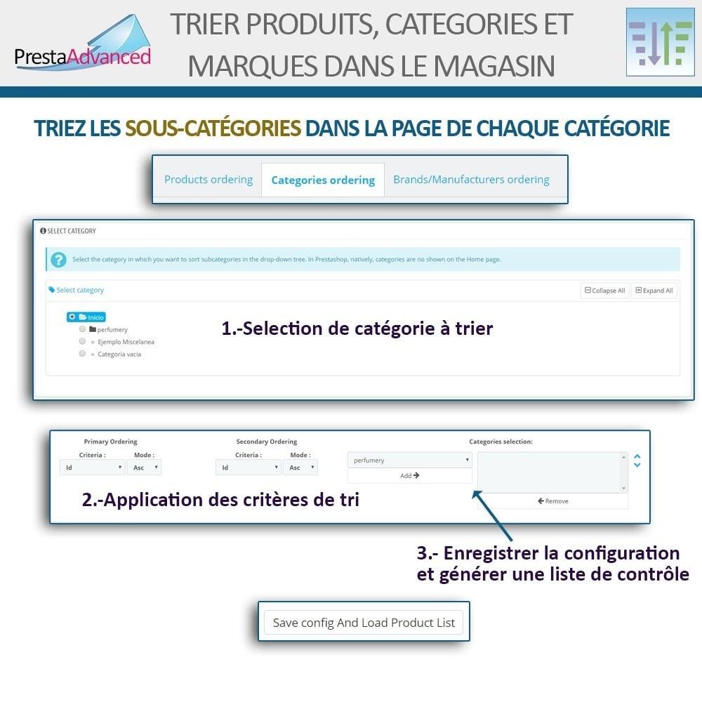 module - Personnalisation de Page - Tri de produits, catégories et marques dans le magasin - 13
