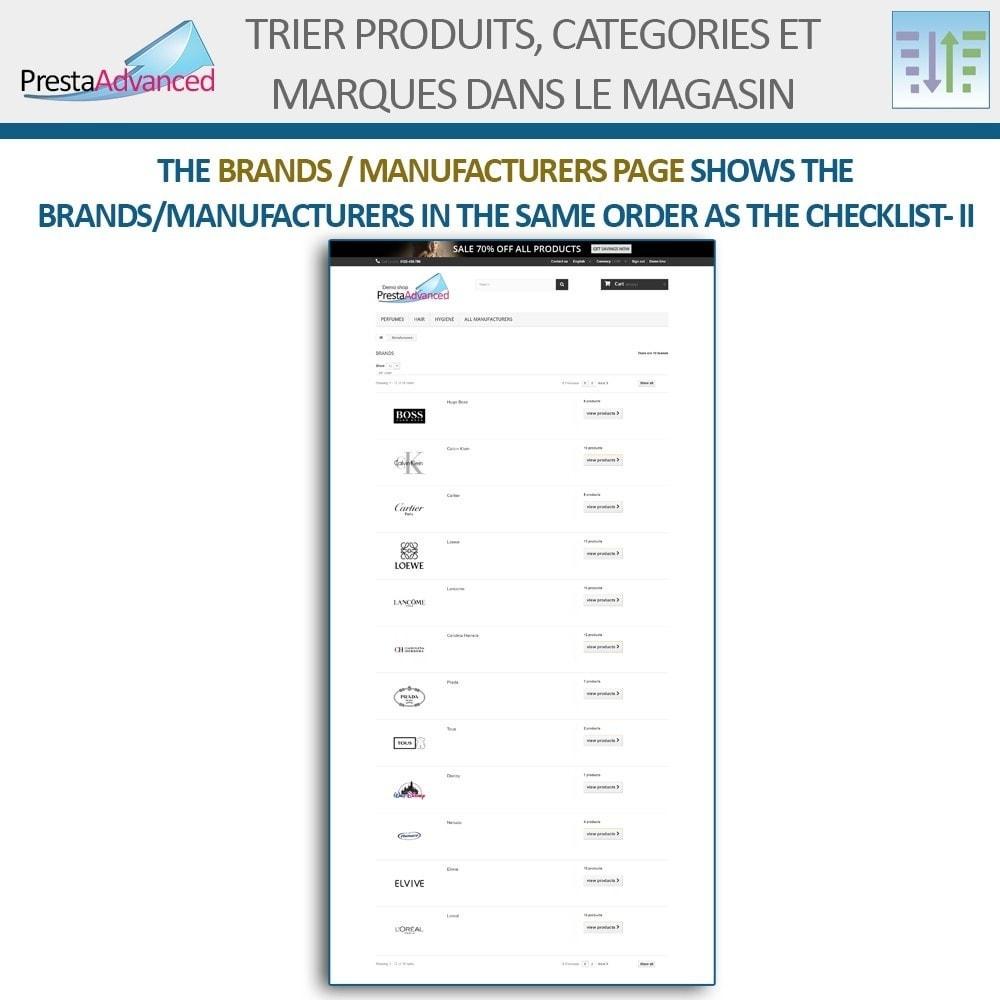module - Personnalisation de Page - Tri de produits, catégories et marques dans le magasin - 18