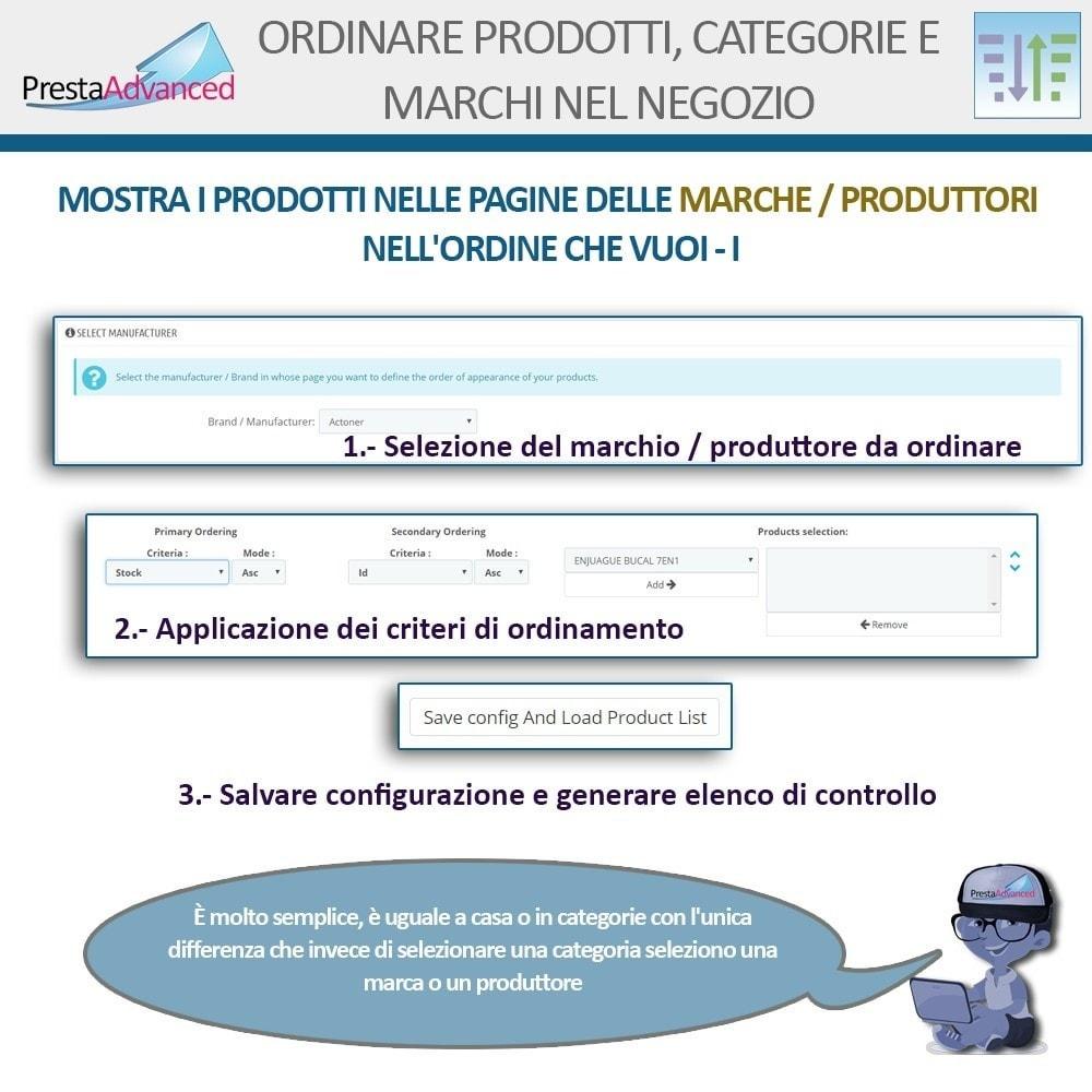 module - Personalizzazione pagine - Ordinamento di prodotti, categorie e marchi nel negozio - 10