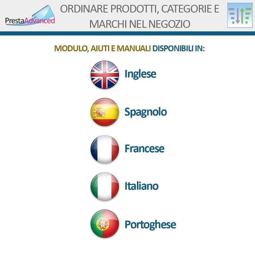 module - Personalizzazione pagine - Ordinamento di prodotti, categorie e marchi nel negozio - 19