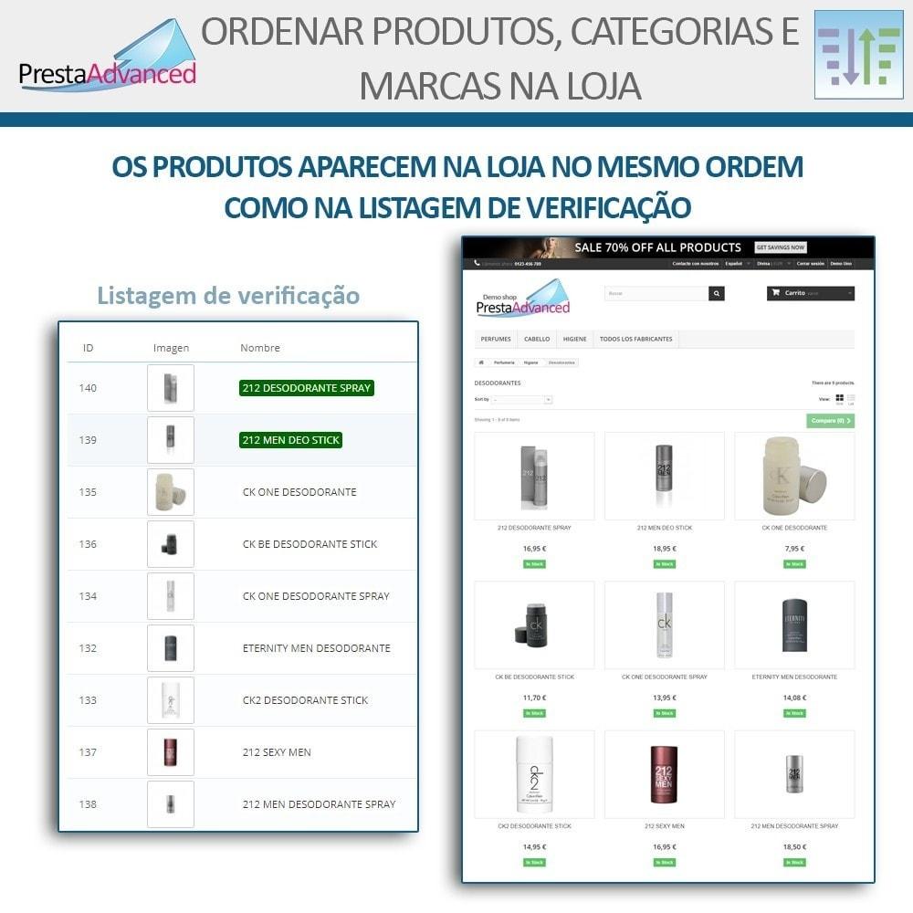 module - Personalização de página - Ordenar produtos, categorias e marcas na loja - 8