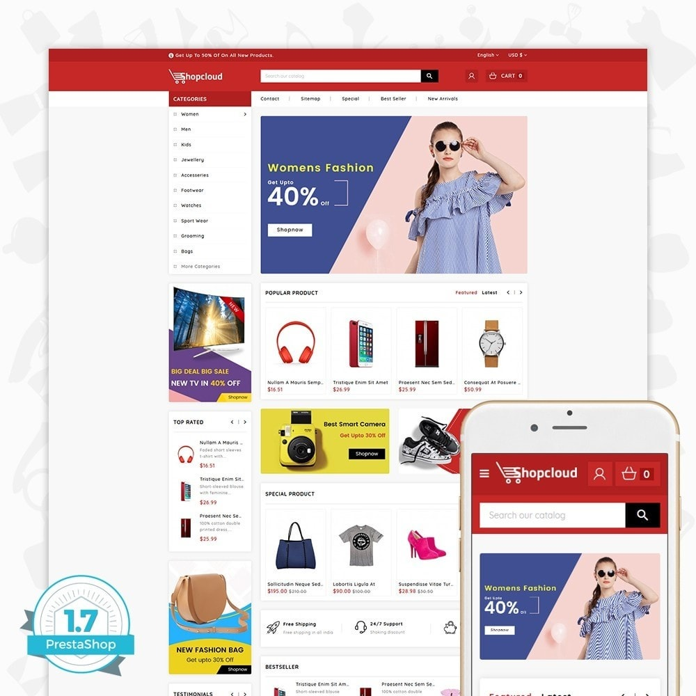 theme - Electrónica e High Tech - ShopCloud - The Electronics Store - 1