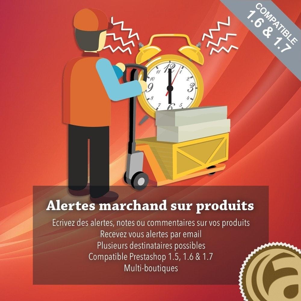 module - E-mails & Notifications - Alertes marchand sur les produits - 1