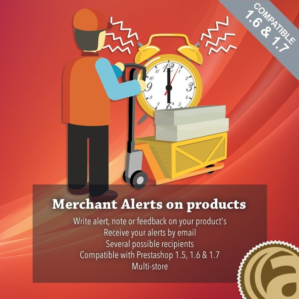 module - Emails & Notificaties - Merchant alerts on products - 1