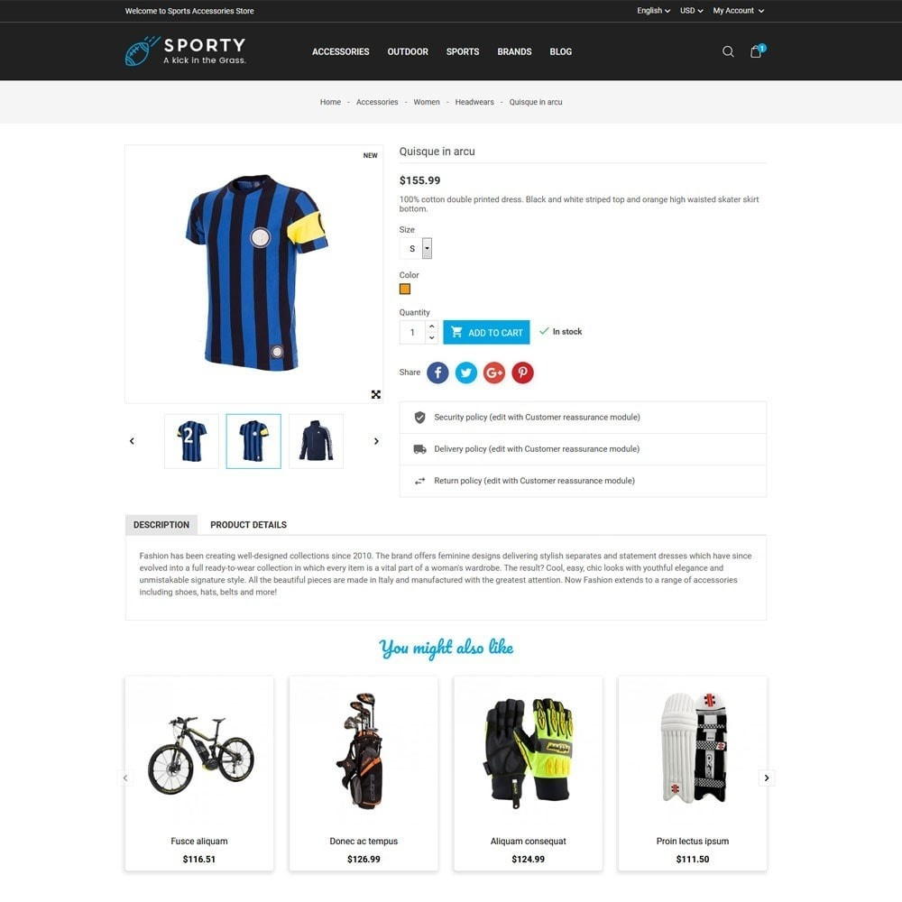 theme - Sport, Loisirs & Voyage - Sporty Accessories Store - 5