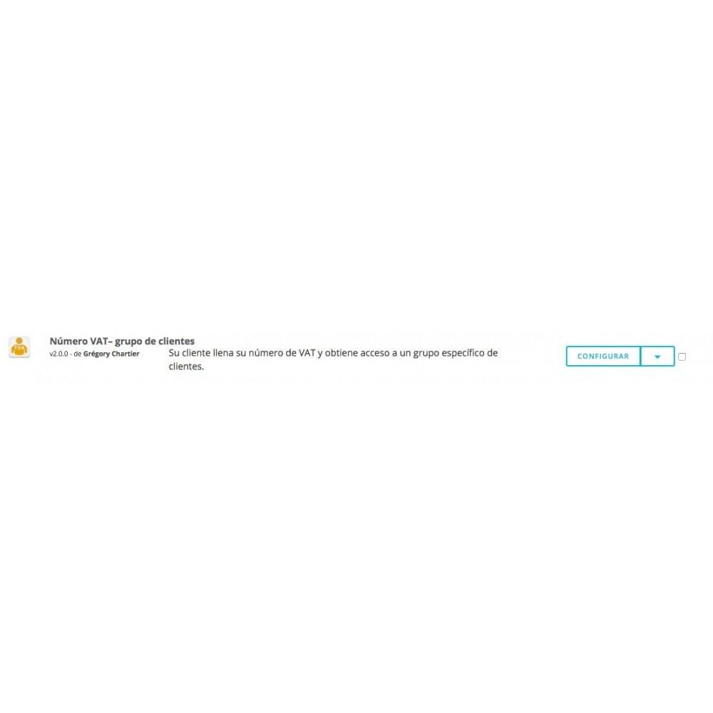 module - Gestión de clientes - Número de VAT – Grupo de clientes - 5