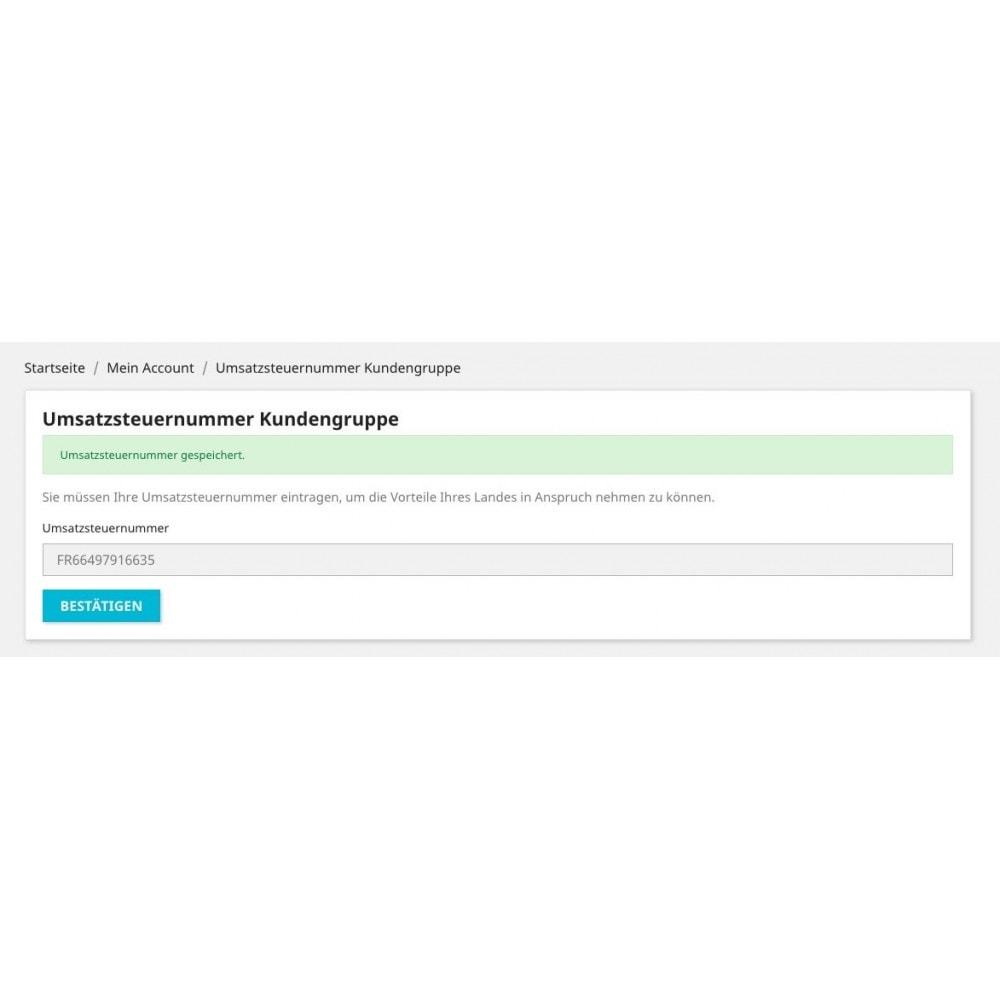 module - Kundenverwaltung - Umsatzsteuernummer - Kundengruppe - 4