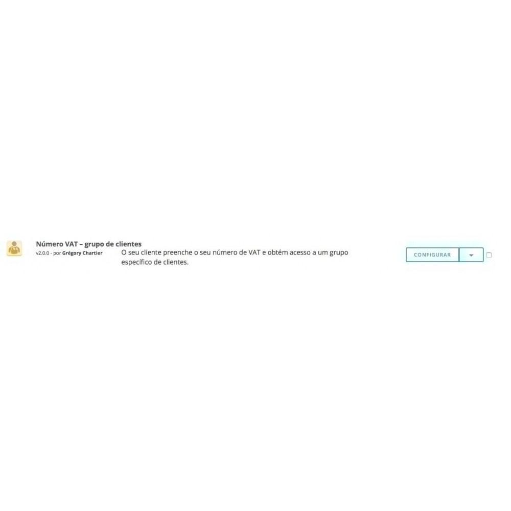module - Administração dos Clientes - Número de VAT – Grupo de clientes - 5