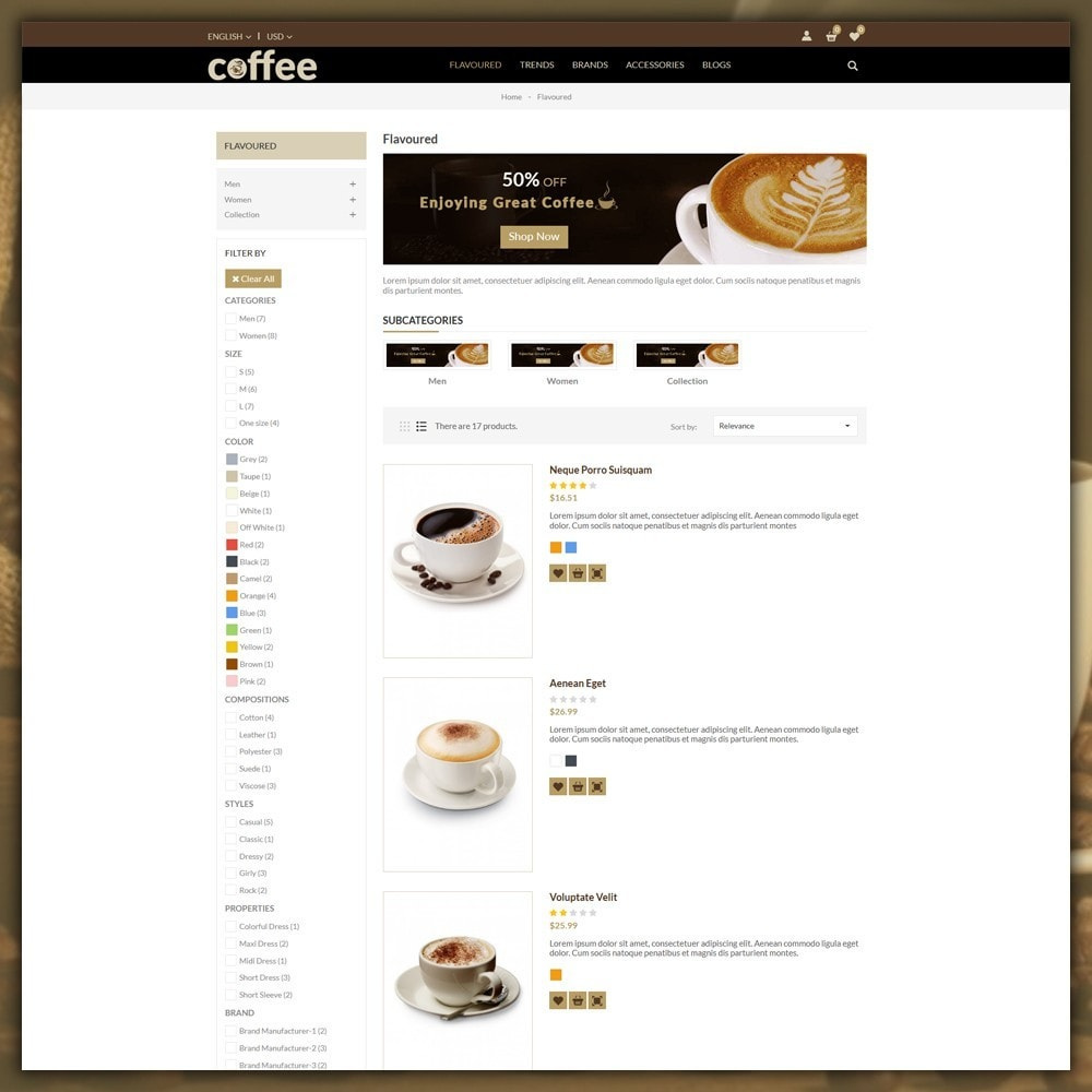 theme - Bebidas y Tabaco - Coffee Shop - 5