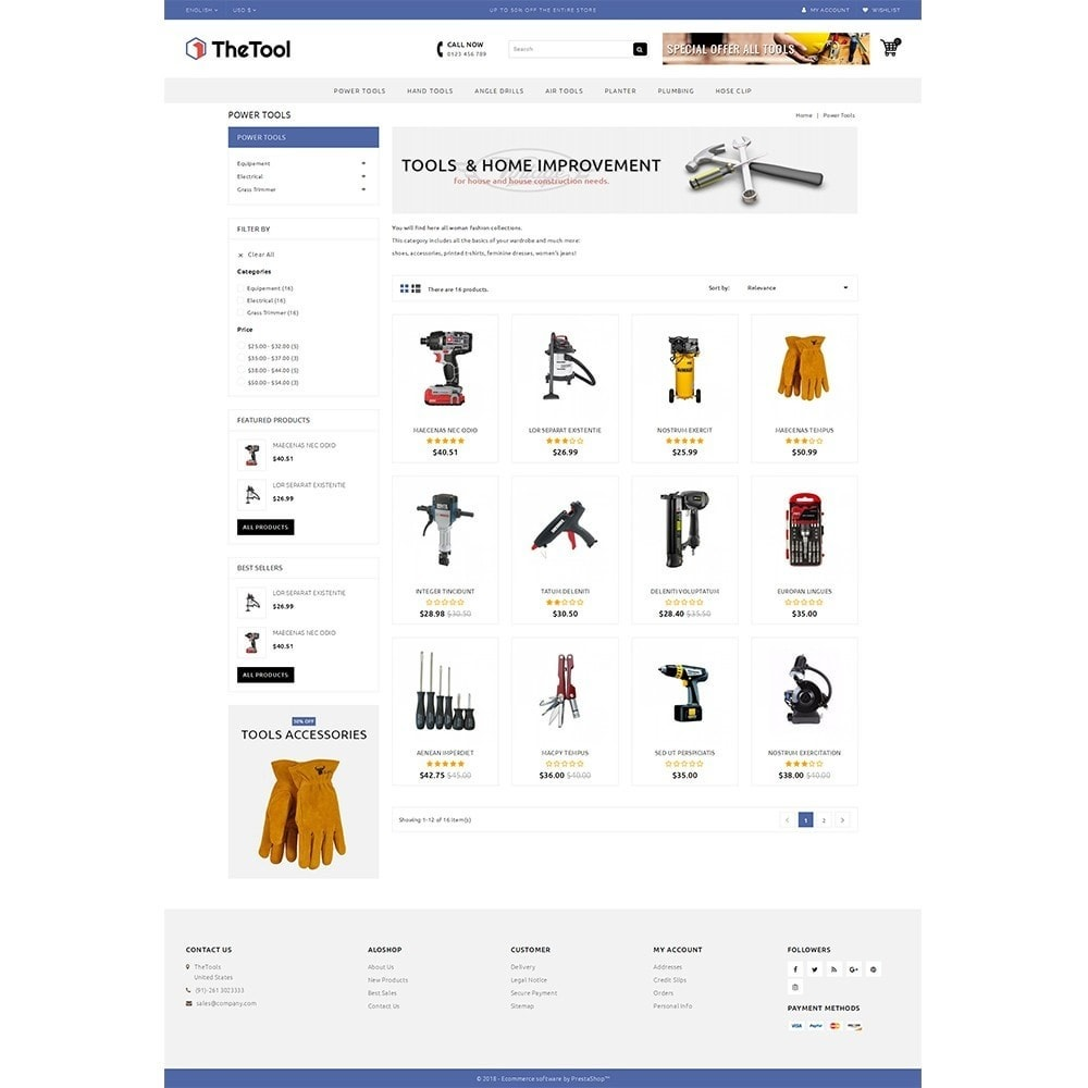 theme - Coches y Motos - TheTools Store - 3