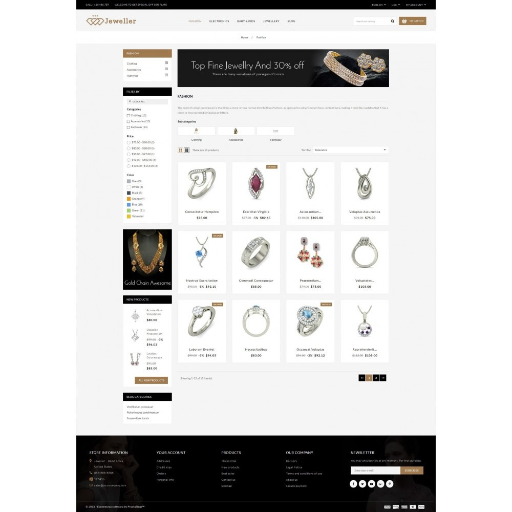 theme - Bellezza & Gioielli - Jeweller Store - 3