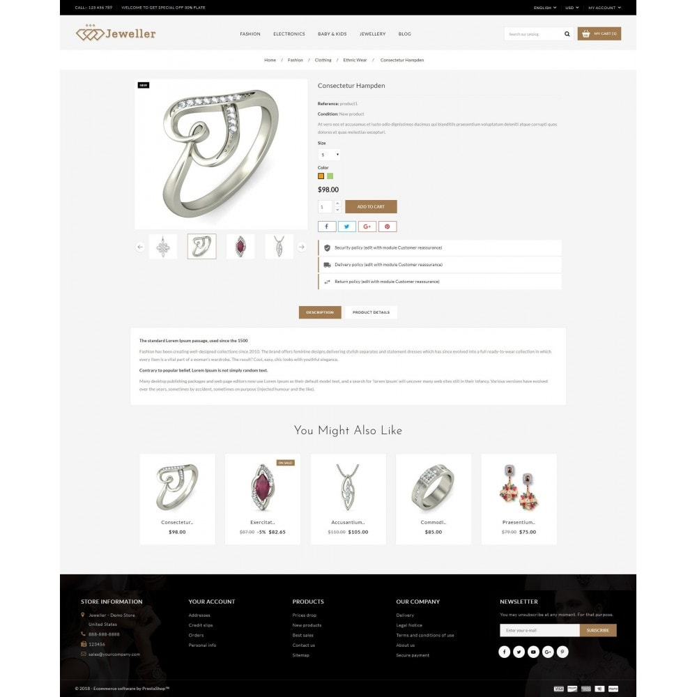 theme - Bellezza & Gioielli - Jeweller Store - 5