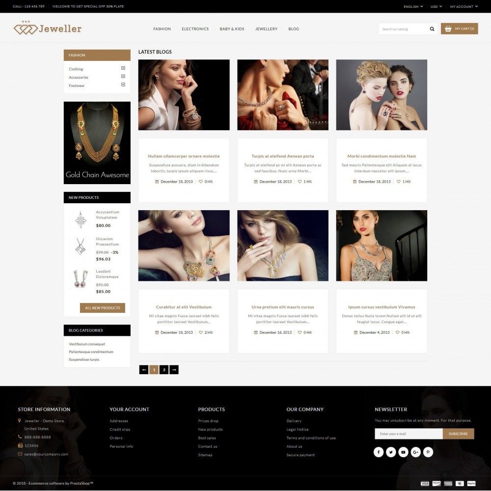 theme - Bellezza & Gioielli - Jeweller Store - 9