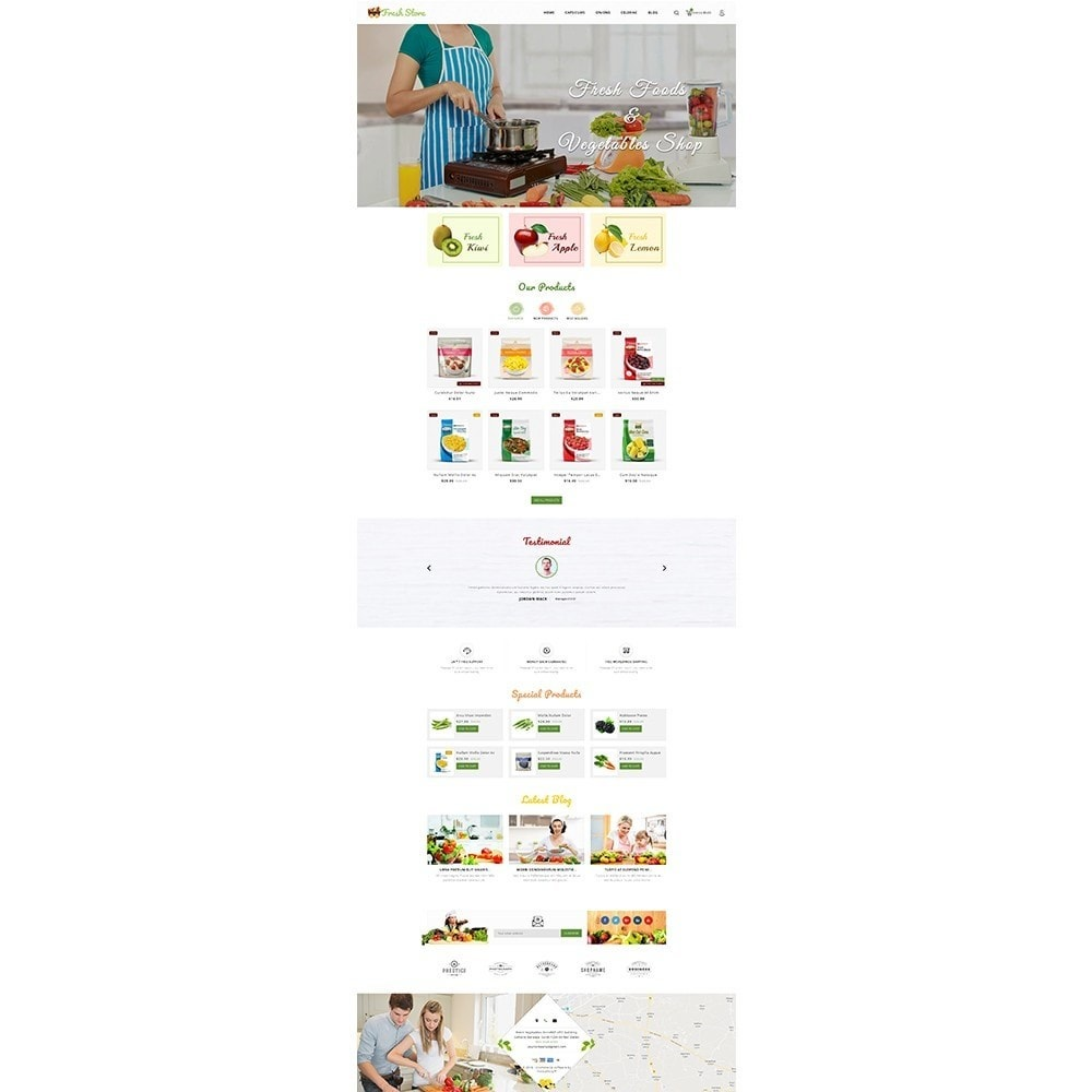 theme - Gastronomía y Restauración - Fresh Vegetables Store - 2