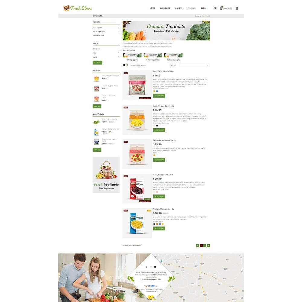 theme - Gastronomía y Restauración - Fresh Vegetables Store - 4