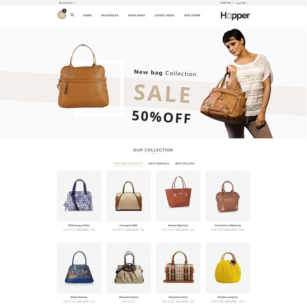 theme - Mode & Chaussures - Hopper Bag Store - 3