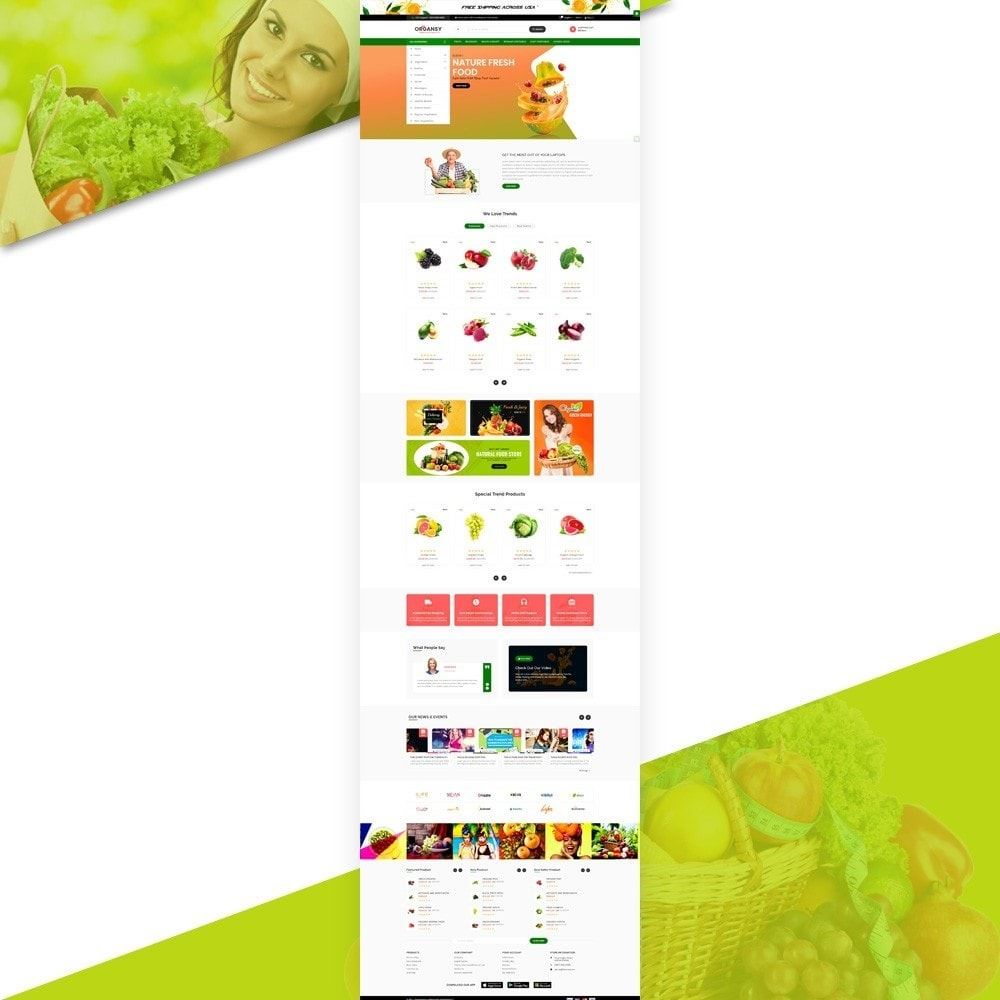 theme - Продовольствие и рестораны - Organsy – Grocery/Food/Gourmet/Drinks Super Store - 2