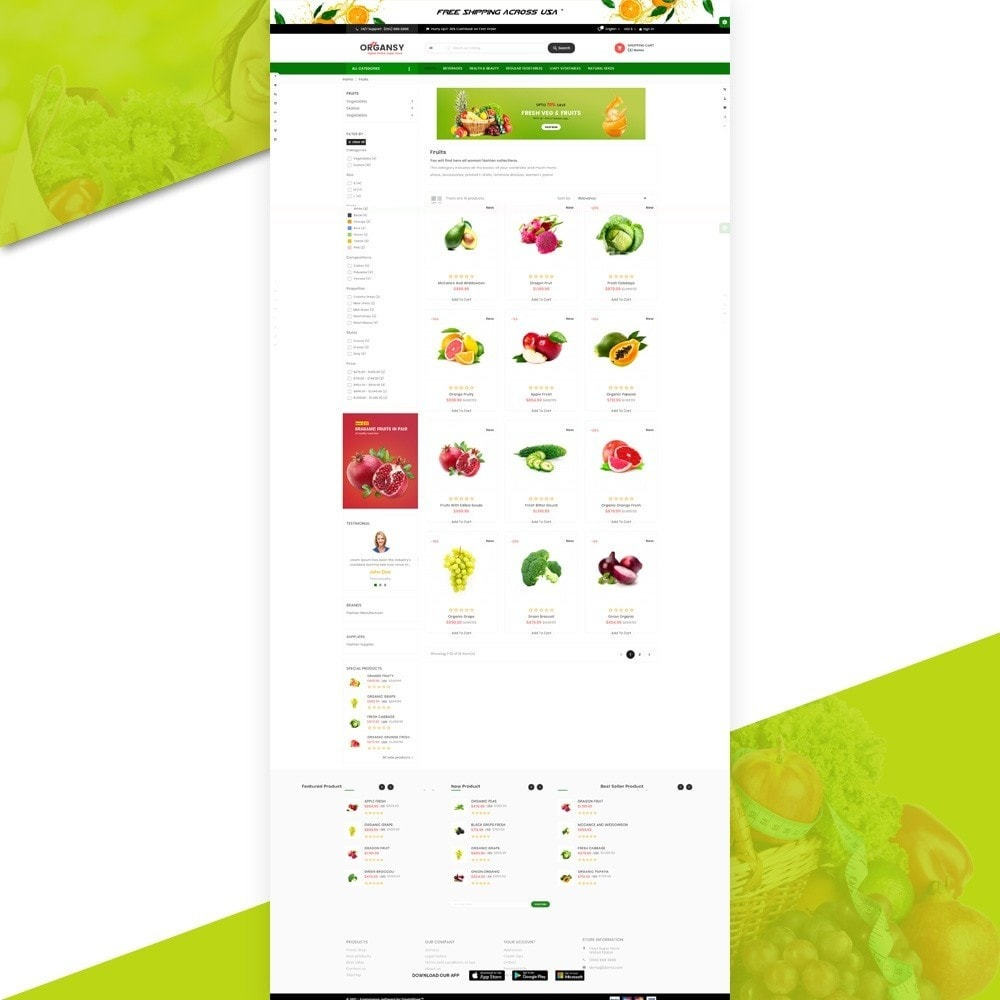 theme - Lebensmittel & Restaurants - Organsy – Grocery/Food/Gourmet/Drinks Super Store - 3