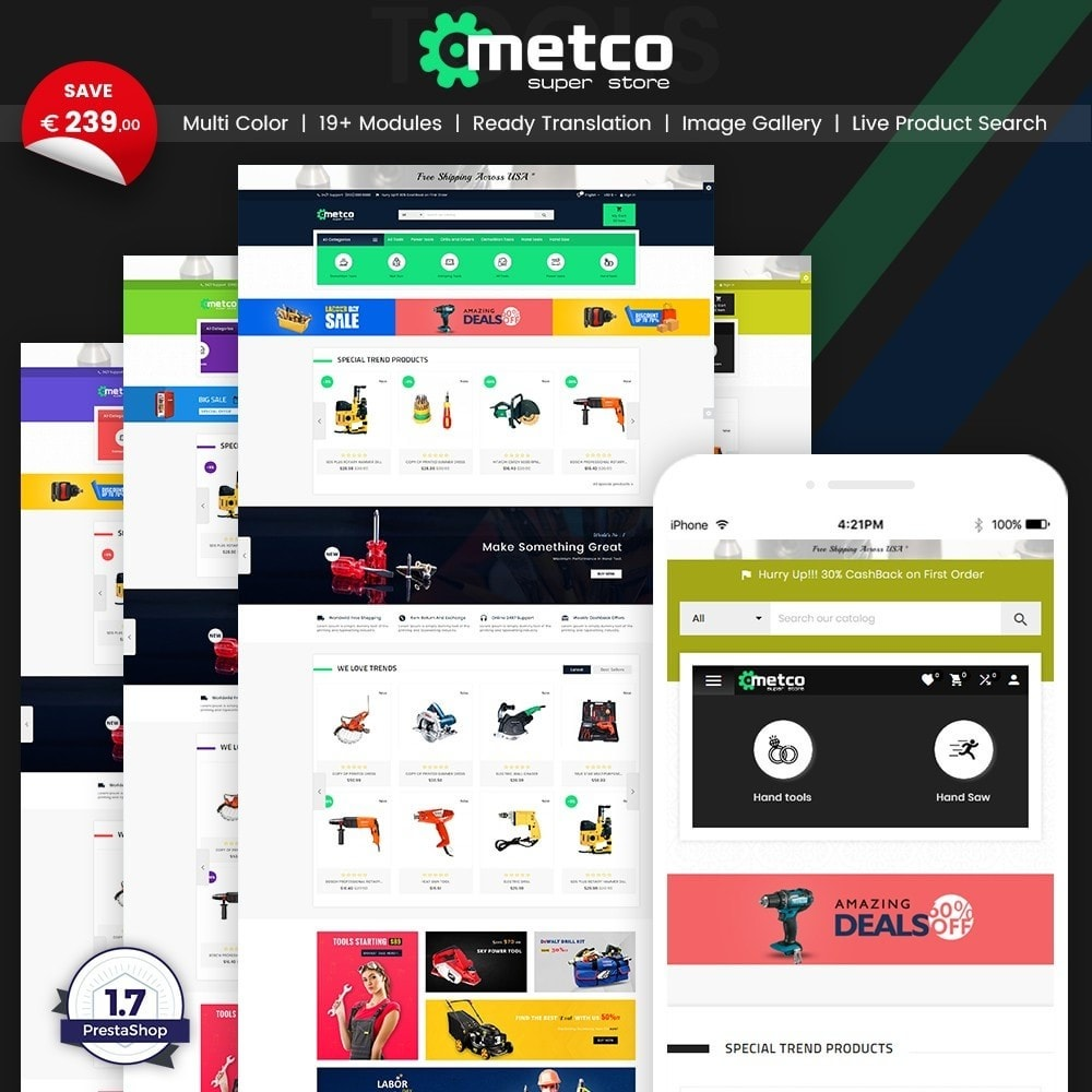 theme - Automotive & Cars - Metco – Tools and Machine Super Store - 1