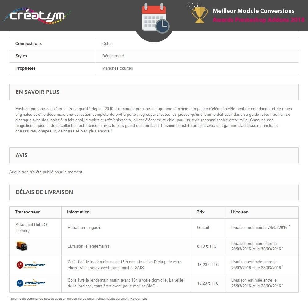 module - Date de livraison - Date de livraison avancée - 3