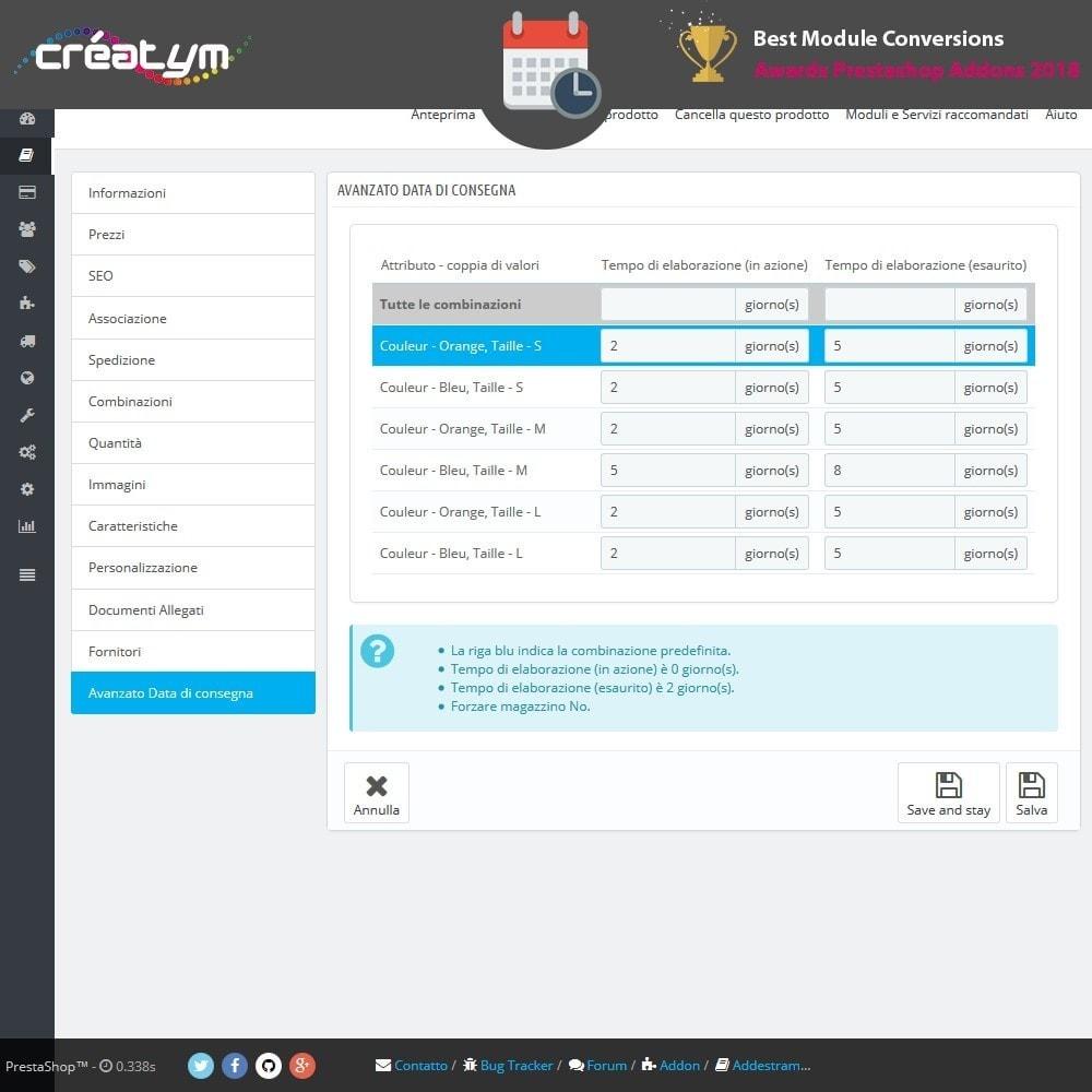 module - Data di Consegna - Avanzato Data di consegna - 7