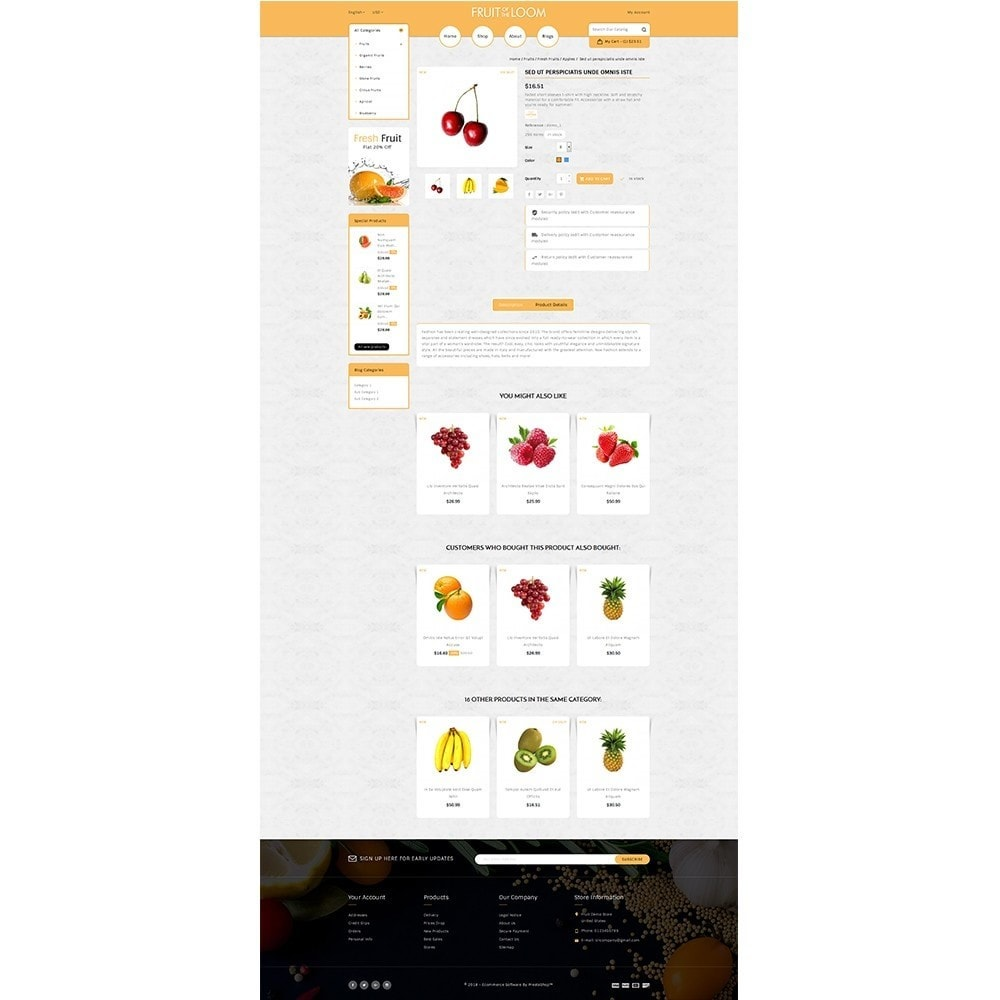 theme - Alimentos & Restaurantes - Fruits Store - 5