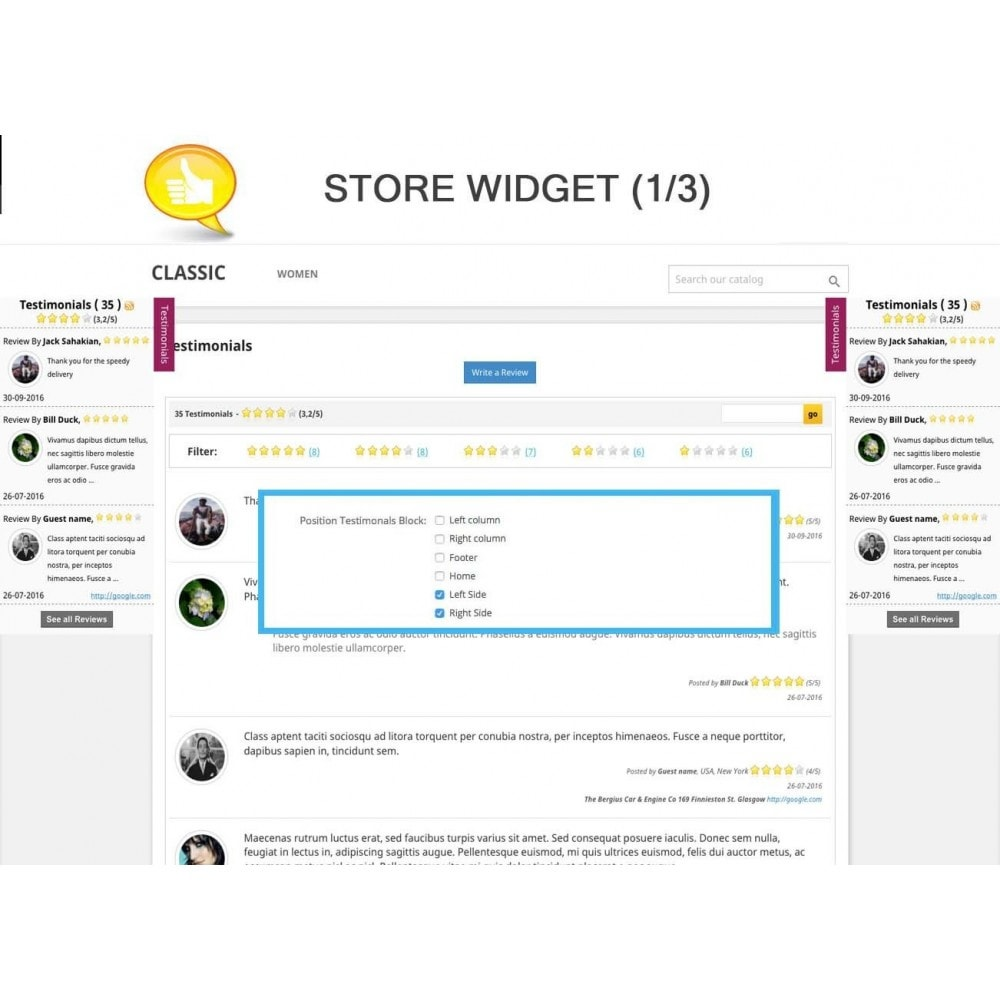 module - Klantbeoordelingen - Shop Reviews + Avatars + Reminder + Rich Snippets - 7
