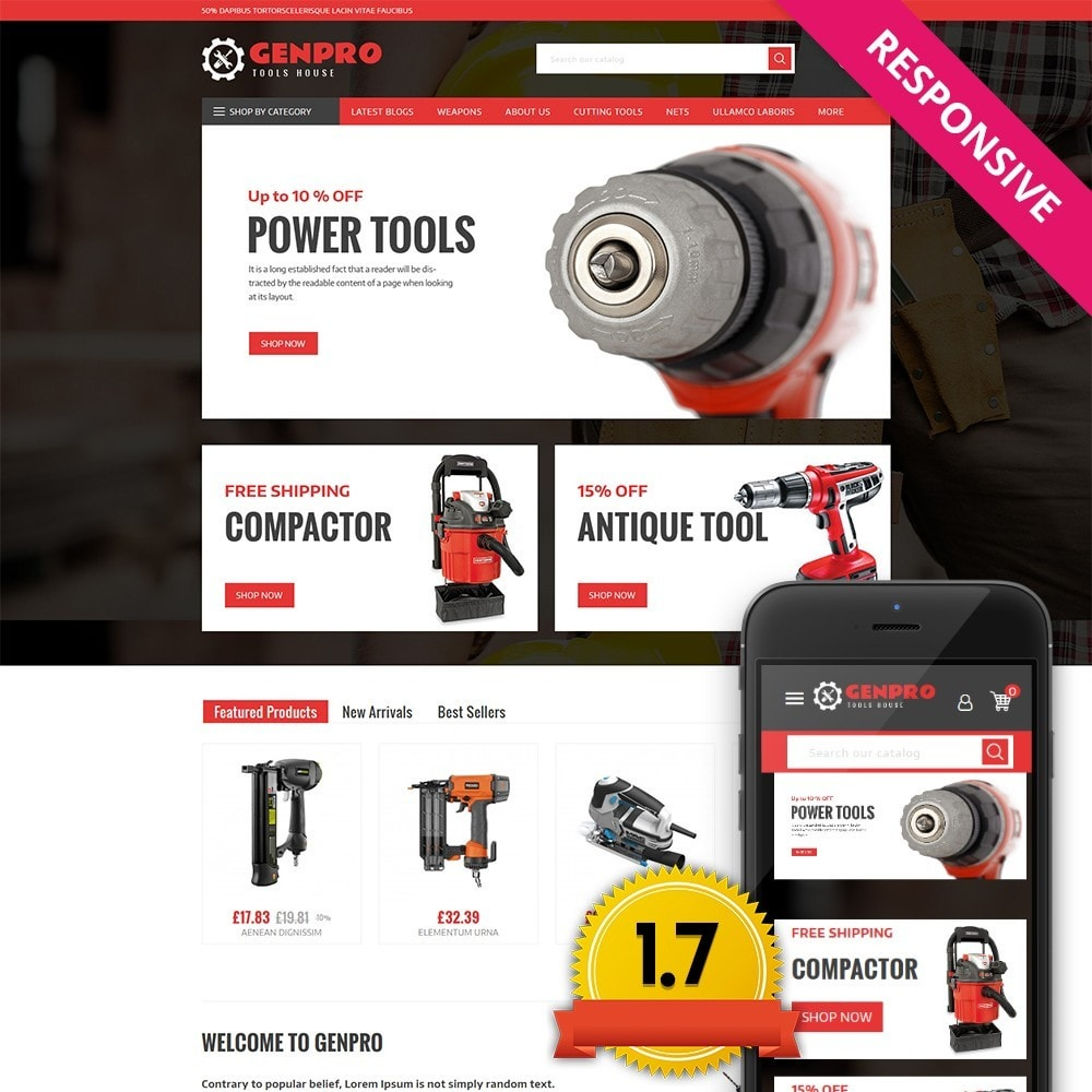 theme - Elettronica & High Tech - Genpro Tool House - 1