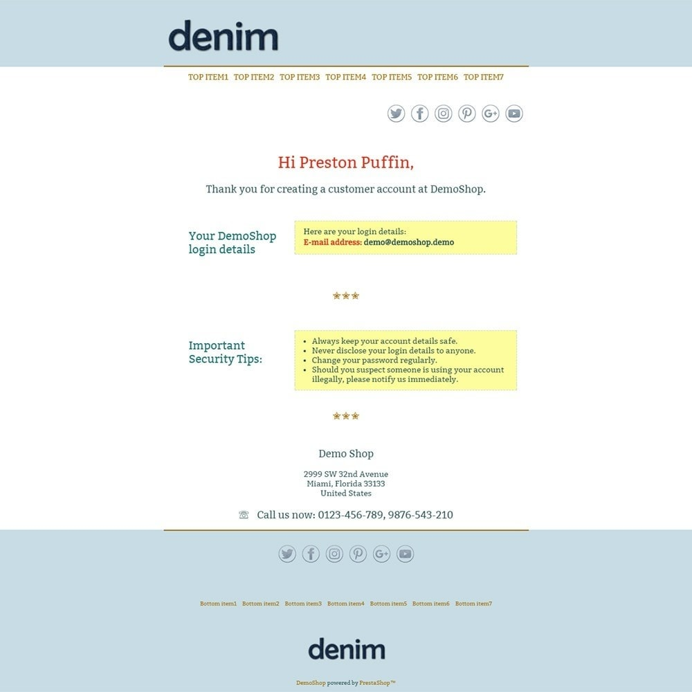 email - PrestaShop email templates - Denim - Email templates - 2