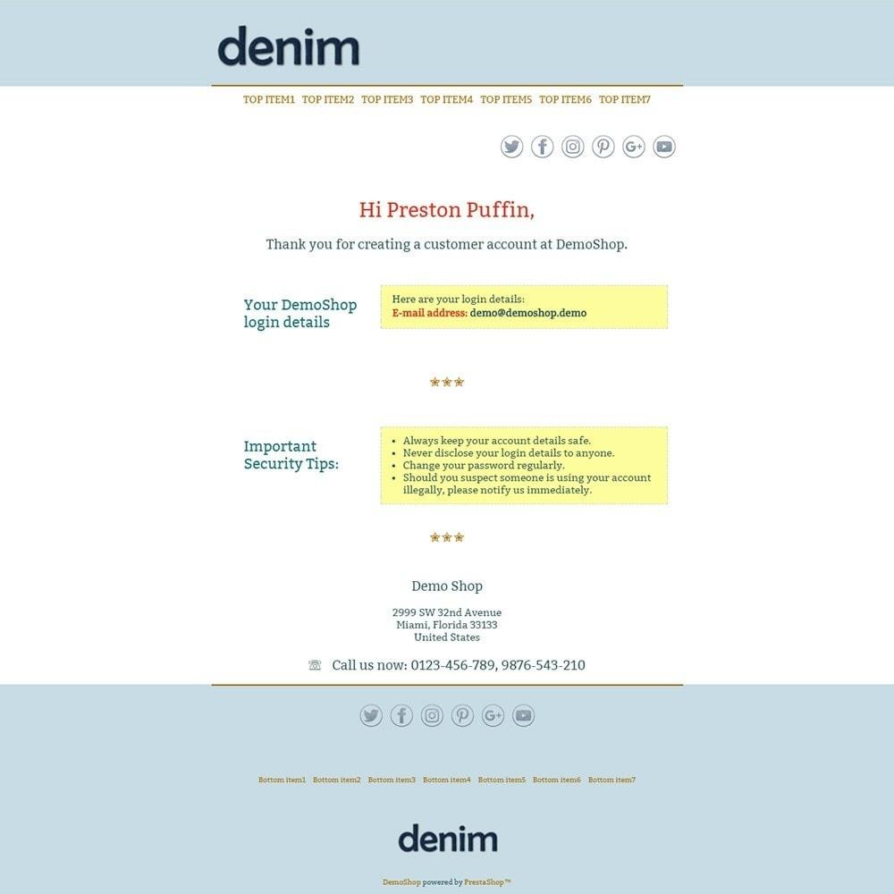email - Modelos de e-mails da PrestaShop - Denim - Email templates - 2