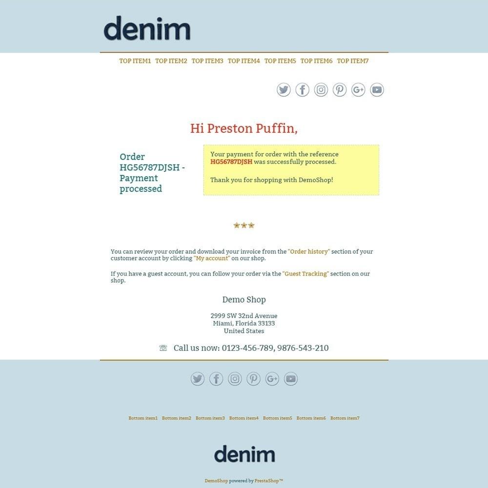 email - Modelos de e-mails da PrestaShop - Denim - Email templates - 3